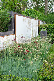 Border, Columbine, Contemporary garden, Digital, Foliage, Garden construction, Trellis