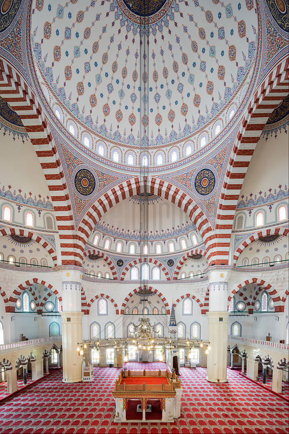 Interior of the Ertuğrul Gazi Mosque