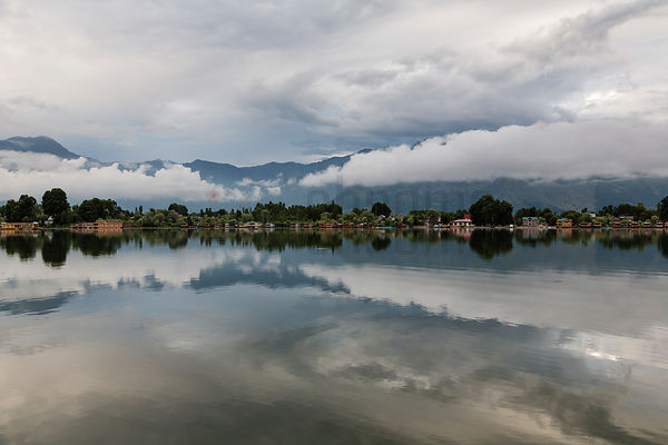 Early Morning View of the Mountains and Nigeen Lake