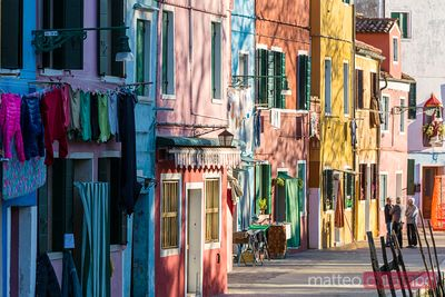 Typical colorful houses in Burano, Venice, Italy