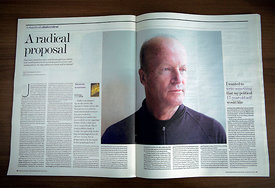 British author, Jim Crace - The Independent on Sunday New Review Magazine