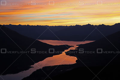 Sunrise Balfour and West Arm of Kootenay Lake BC