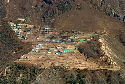 NEPAL Phortse -- Phortse - a village situated at around 4,000 metres in the Khumbu Himal of Nepal
