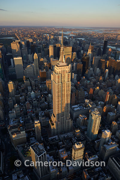 Aerial photograph of the Empire State Building in New York Building