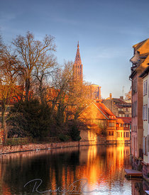 Evening Reflections in Strasbourg