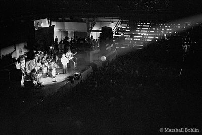 Bleachers and audience   Chicago Coliseum 1969