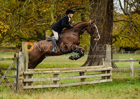 Margo Sly jumping a fence near The Kennels.