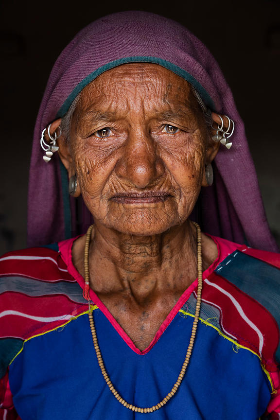 Portrait of a Woman from the Bharwad Tribe