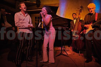 Othella Dallas with Christian Jenny  performing at the Dracula Club in St. Moritz