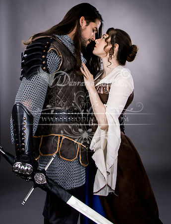 Medieval Couple Embrace