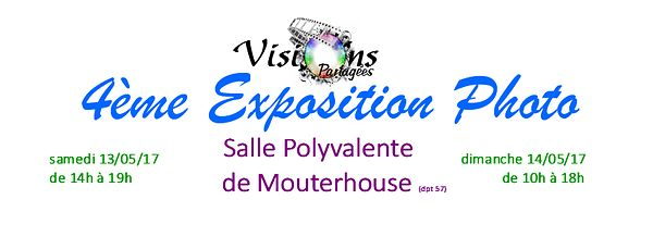 EXPOSITION VISIONS PARTAGEES Mai 2017