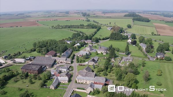 Countryside and Small Village of Auge de Champagne Region France