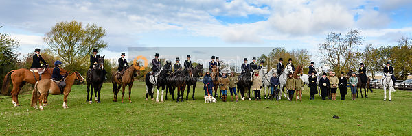 Sidesaddle ladies at the meet. Quorn Hunt Opening Meet 2018