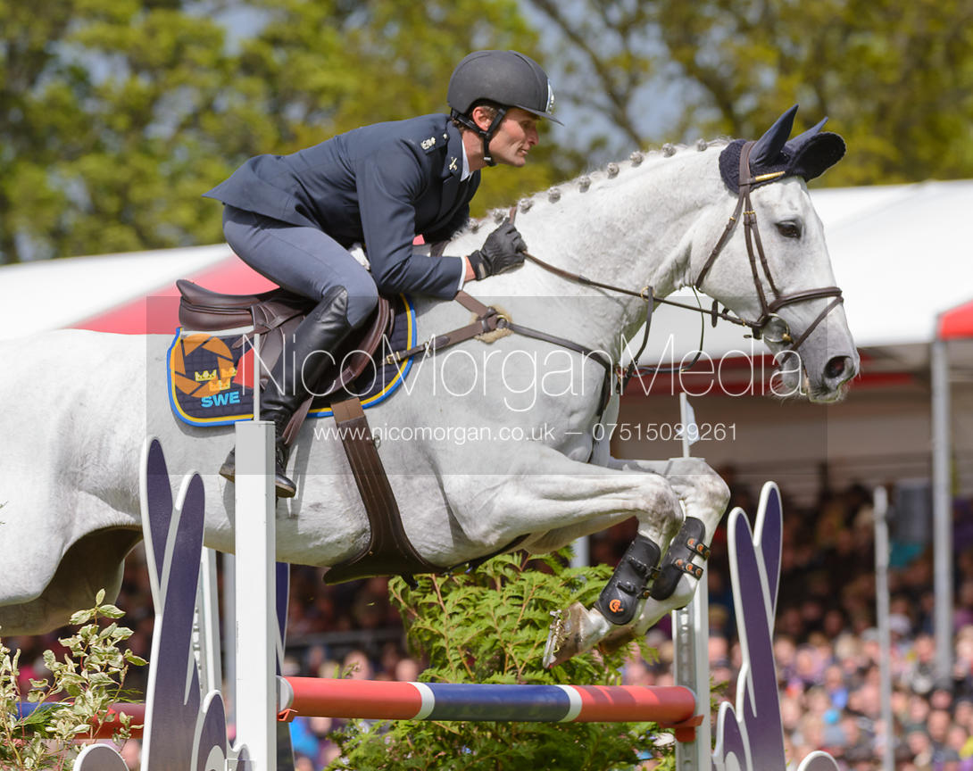 Johan Lundin and JOHNNY CASH - Show Jumping phase, Mitsubishi Motors Badminton Horse Trials 2014