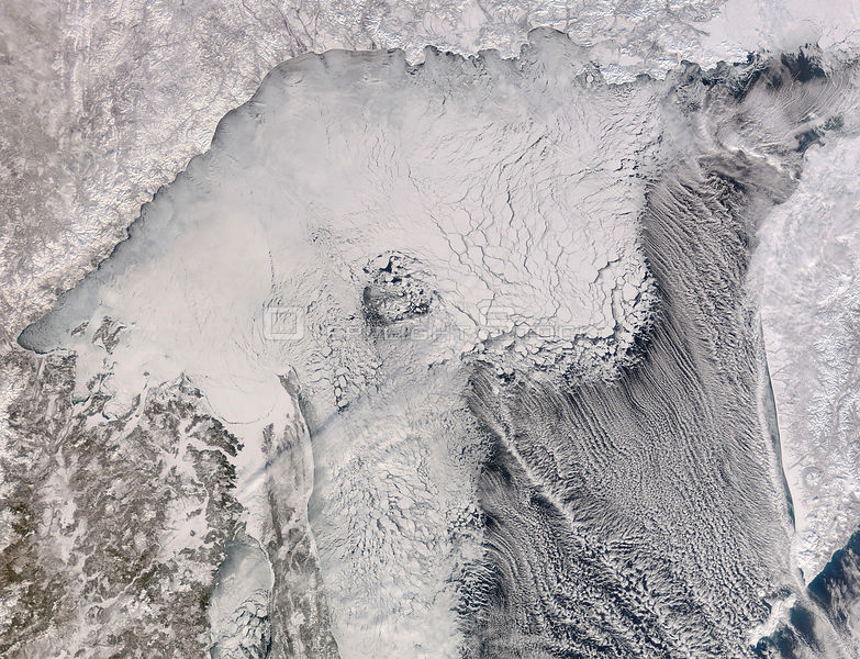 EARTH Sea of Okhotsk -- 06 Feb 2006 -- Tucked between Siberia and Russia