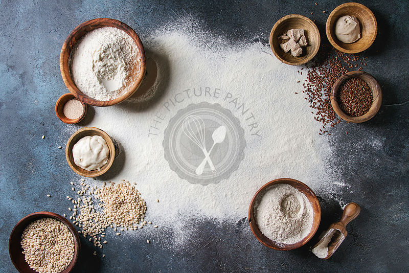 Variety of flour and grains