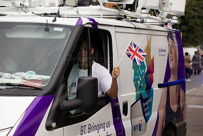 BT Sponsors waving Union Flag