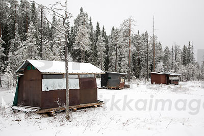Hides for Wolf Photography on frontier zone in Kuhmo