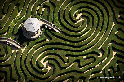 aerial photograph of Longleat Maze Wiltshire England UK