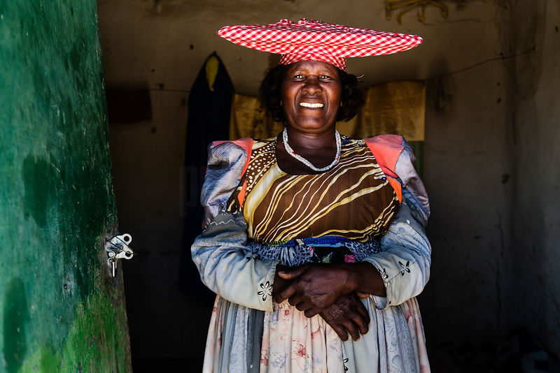 Portrait of a Herero Woman in her Home