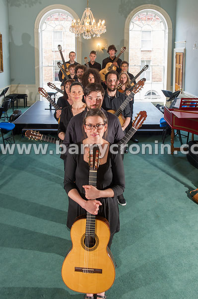 30th June, 2015.Members of the GuitarIAM ensemble from the Irish Academy of Music photographed at the academy in Dublin...Pho...