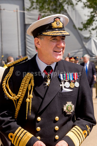 First Sea Lord, Admiral Sir George Zambellas in the Veteran's Parade in St James Park