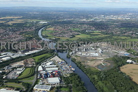 Irlam Wharfside Business Park and Irlam Container Terminal Peel Ports and Carrington Plain development area and the new Carri...