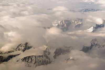 Aerial view of the Chugach Mountains south of Anchorage, Alaska