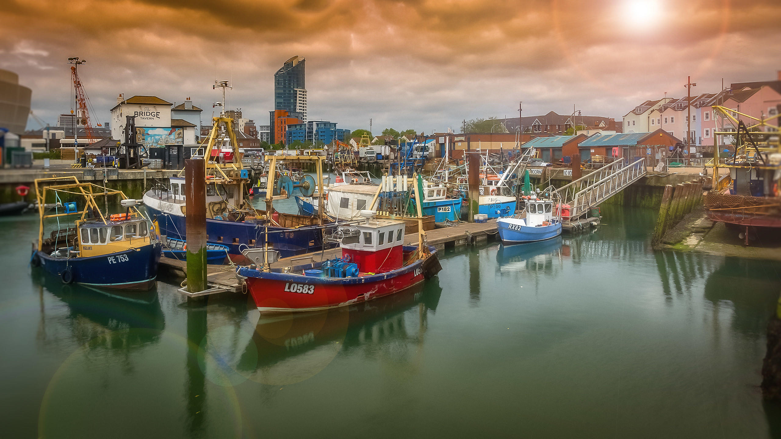 Fishing Boats in Camber Dock, Portsmouth - UK