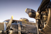 "Memphis Belle- Medium View, Left Engines and ""MOM"""