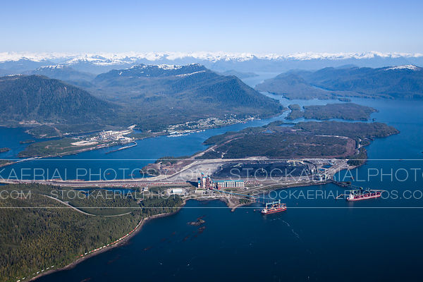 Ridley Island Terminal (RTI) Aerial Overview