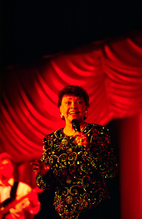 Cabaret singer on board the P&O Cruise Liner Oriana