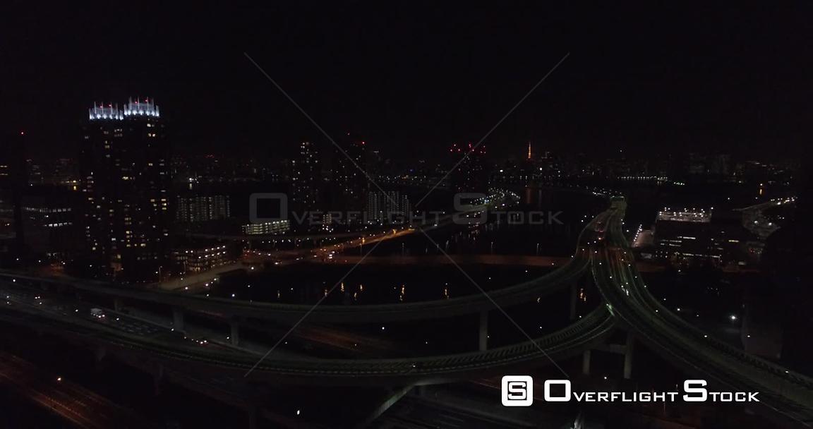 OverflightStock   Night Ferris Wheel Tokyo Japan -- Available in HD