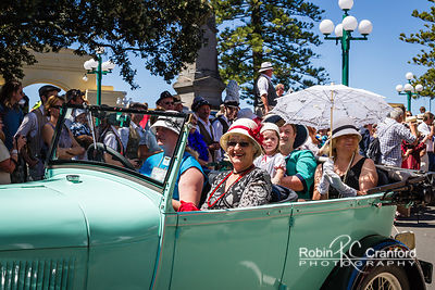 Art Deco Saturday 2012 - Vintage Car Parade.  License Plate = X1928X