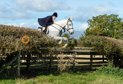 jumping a fence at Gartree. Quorn Hunt Opening Meet 2018