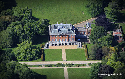 aerial photograph of Wolterton Halll Norfolk England UK