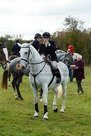 Rosie Cass at the meet. Quorn Hunt Opening Meet 2018