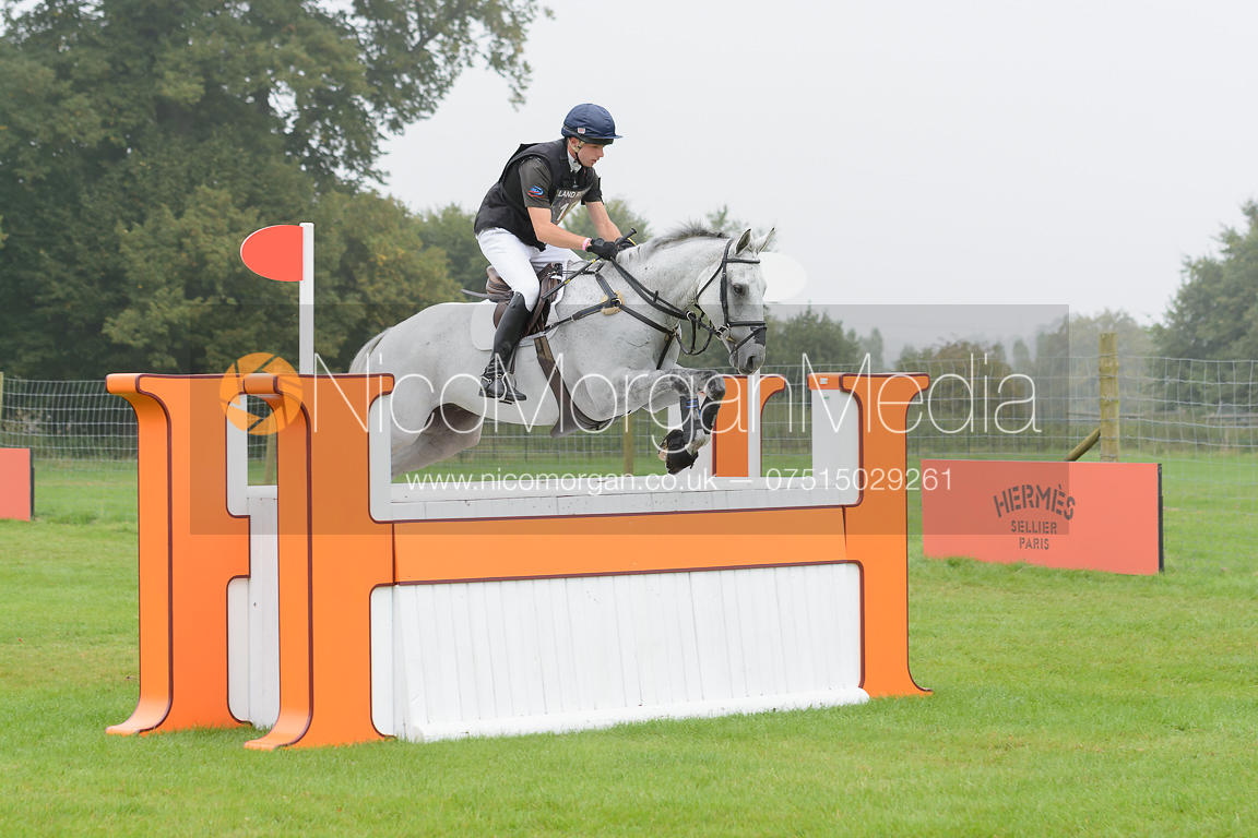 Harry Dzenis and XAM - cross country phase,  Land Rover Burghley Horse Trials, 6th September 2014.