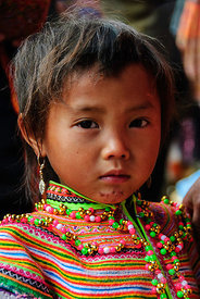 Flower Hmong Girl