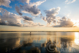 Paddleboarding with Clouds