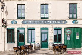 Typical french cafe, Marne, Champagne, France