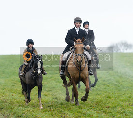 JT at Knossington Spinney - The Fitzwilliam Hunt visit the Cottesmore at Burrough House