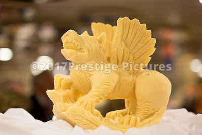 Butter Carving as a Flying Dragon