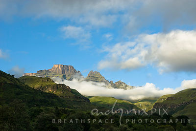 Drakensberg mountain escarpment