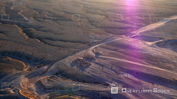 Las Vegas, Nevada, USA  Aerial Footage of Desert Outside of Las Vegas