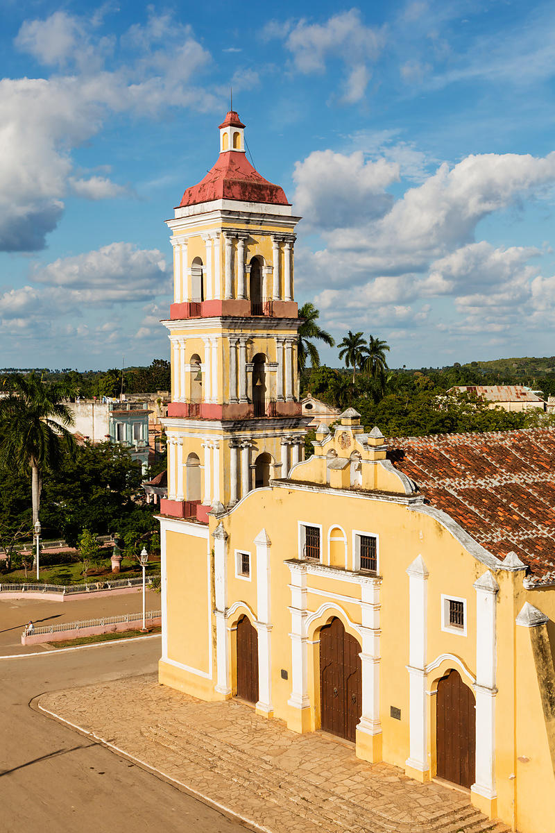 Elevated View of Iglesia Mayor San Juan Bautista in the Main Square