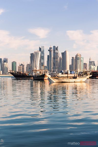 Doha city from the harbour, Qatar