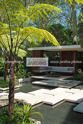 Aquatic garden, Asiatic garden, Contemporary garden, Exotic garden, Pavement, Tropical garden, Water garden, Malaysian garden...