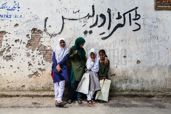 Portrait of Young Moslem Girls