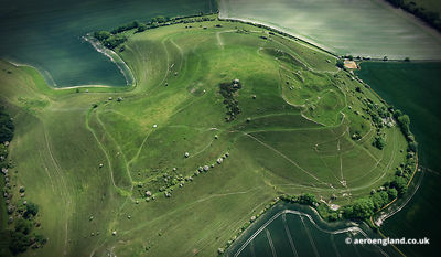 Cley Hill iron age  hill fort in Wiltshire